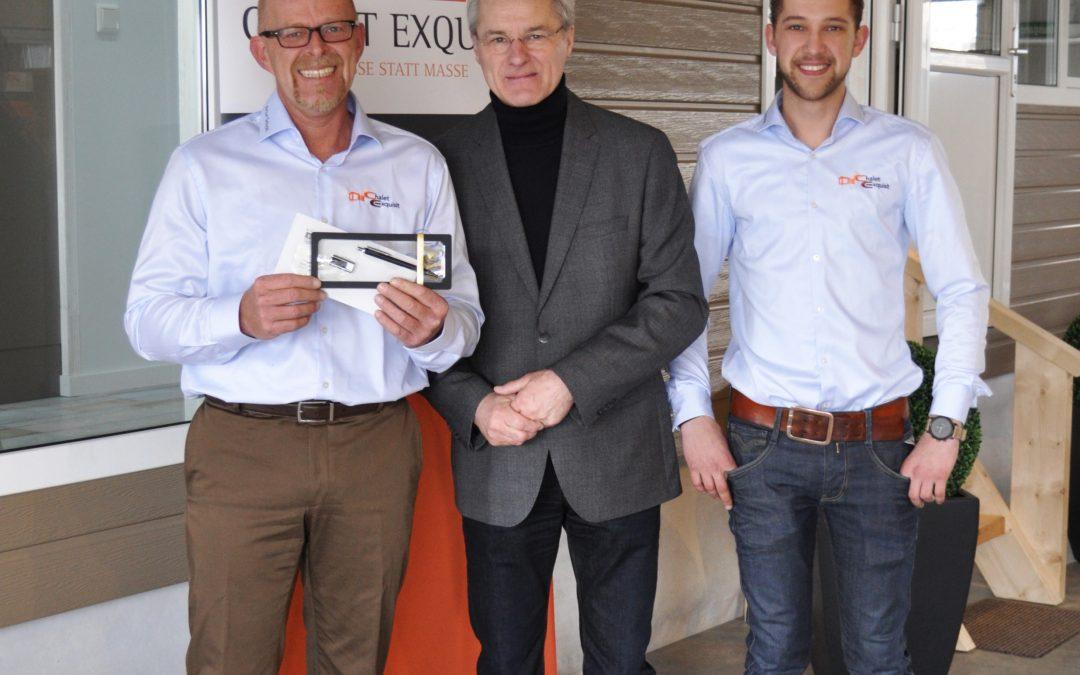 Wirtschaftsförderer Hans-Josef Bruns stärkt junges Handwerksunternehmen Kevelaer/Kervenheim