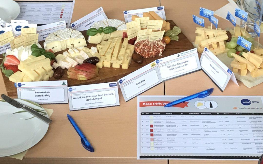 """Regionale Spezialitäten: """"Käse trifft Wein"""" auf Haus Riswick"""